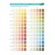 Colour shades book - saturation of shades