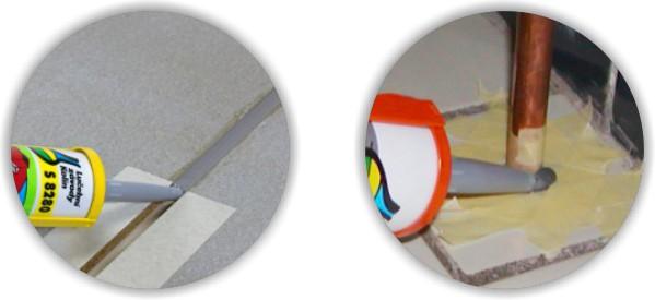 Těsnění spáry silikonovým tmelem Lukopren S 8280